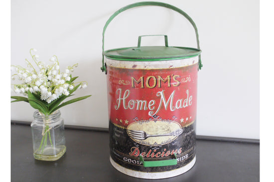 Mom's Rustic Style Storage Tin