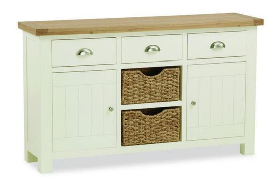 Cotswold Collection - Basket Sideboard - Oak