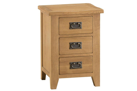 Stamford Collection - Drawer Bedside Cabinet - Oak