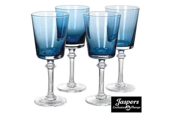 Blue Red Wine Glass