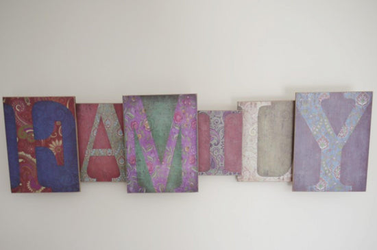 Large Family Sign - 3D Wall Art - Multi Colour