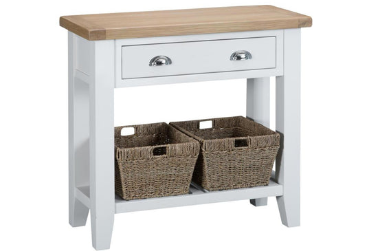 Trentham Collection - Console Table - Oak - Available in White or Grey