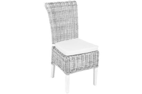 Wicker Chair with Cushion - (Available in Various Colours)