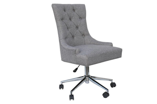 Office Chair with Curved Button Back