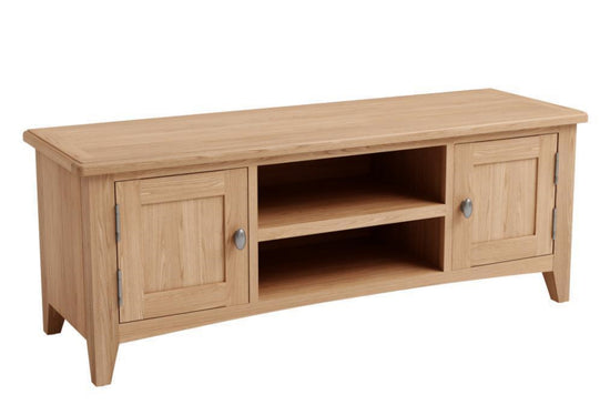Guernsey Collection - Large TV Unit - Light Oak