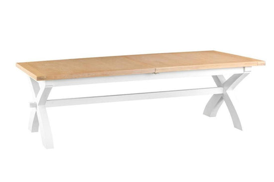 Trentham Collection - Cross Extending Table - Oak - Available in White or Grey
