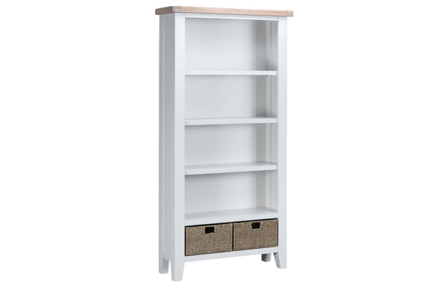 Trentham Collection - Large Bookcase - Oak - Available in White or Grey