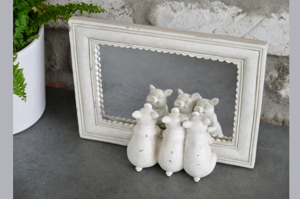 Three Pigs Mirror - White