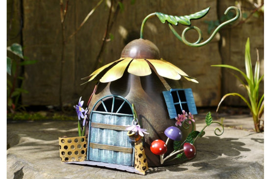 Fairy Sunflower House Garden Ornament