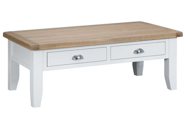 Trentham Collection - Coffee Table - Oak - Available in White or Grey