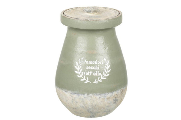 Jar Pomodori Ceramic - Green / Grey