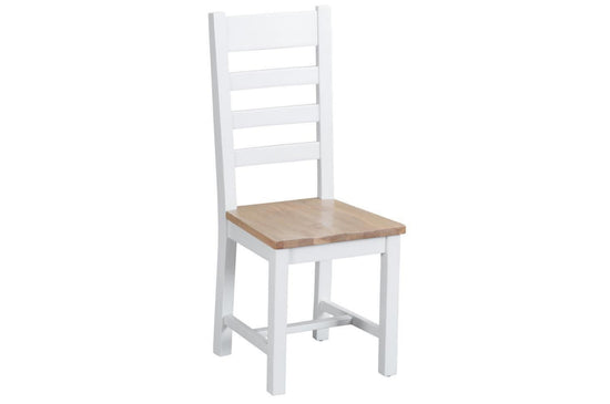 Trentham Collection - Ladder Back Chair Dining - Oak - Available in White or Grey