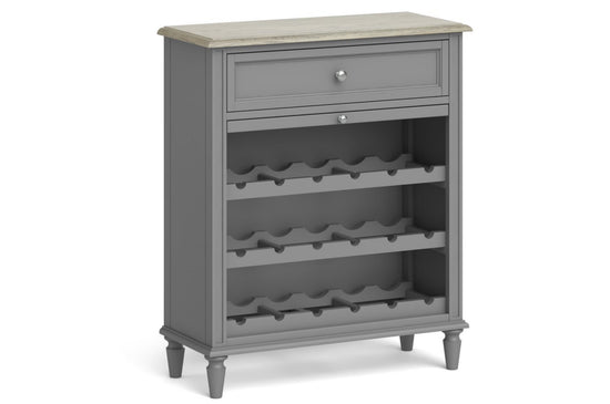 Morocco 1 Drawer Gin / Wine Cabinet - Grey