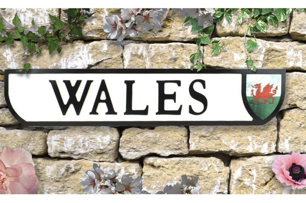 Vintage Style Crest Sign - Wall Art - Wales