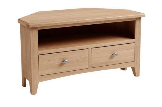 Guernsey Collection - Corner TV Unit - Light Oak