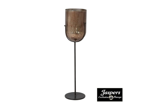 Large Handpainted Bronze Candleholder