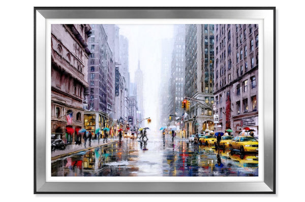 'Rainfall On 5th Avenue' Wall Art