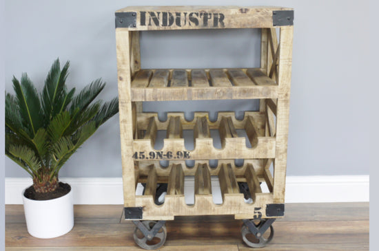 Industrial Style Wine Trolley