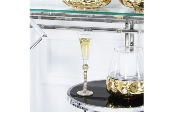 Milano Champagne Flute With Diamante Ball