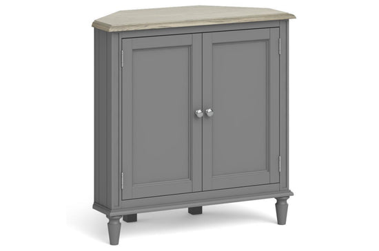 Morocco Corner 2 Door TV Unit - Grey