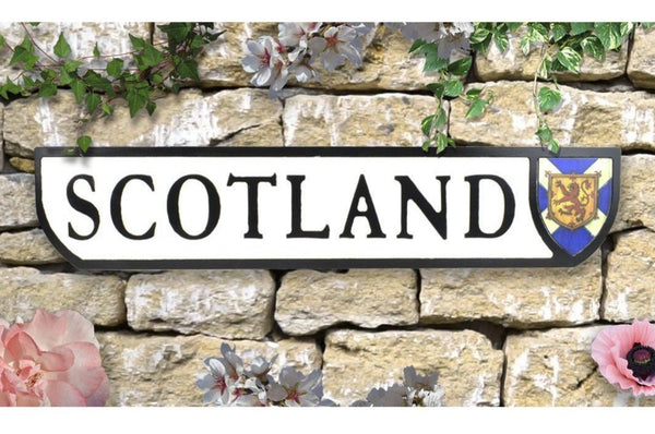 Vintage Style Crest Sign - Wall Art - Scotland