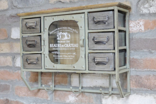 Industrial Style 6 Drawer 1 Door Cabinet
