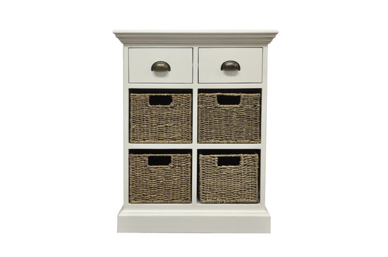 Warwick Collection - 2 Drawer 4 Basket Unit