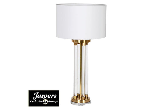 Brass & Acrylic Rod Table Lamp