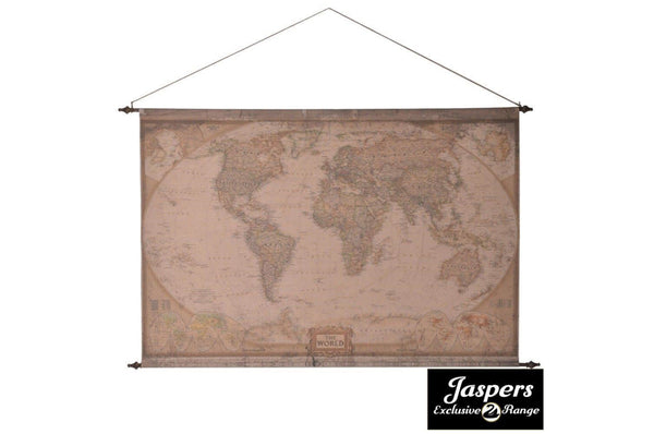 Fabric Hanging World Map