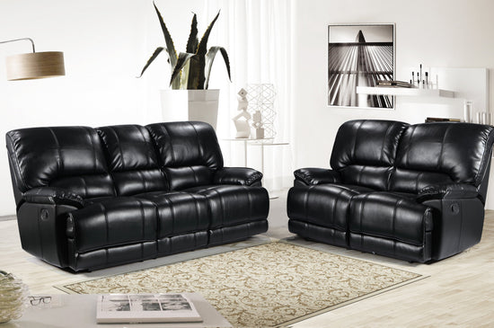 SET Eden 3 Seater & 2 Seater Manual Recliners - Premium Leatheraire (Available in 4 Colours)