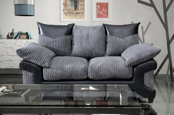 Dunoon 2 Seater Sofa - Black / Grey
