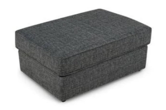 Lucca Banquette Footstool - Grey / Charcoal