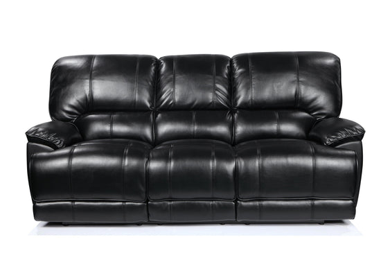 Eden 3 Seater Manual Recliner Sofa - Premium Leatheraire (Available in 4 Colours)