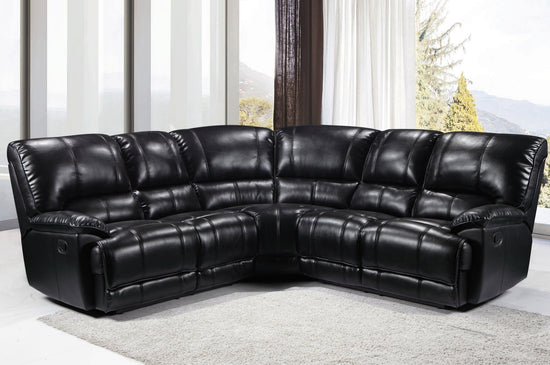 Eden 2C2 Corner Group Manual Recliner - Premium Leatheraire (Available in 4 Colours)