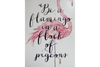 Be a Flamingo Wall Sign - White / Pink-Chair-Jaspers of Hinckley Ltd.