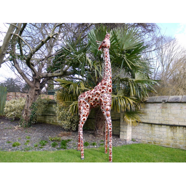 Giraffe Garden Statue - Beige / Brown-Livingroom Furniture-Jaspers of Hinckley Ltd.