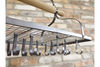 Hung Utility Rack - Black Metal-Livingroom Furniture-Jaspers of Hinckley Ltd.