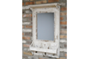 Industrial Style Wall Mirror Coat Hook - Rustic White-Chair-Jaspers of Hinckley Ltd.