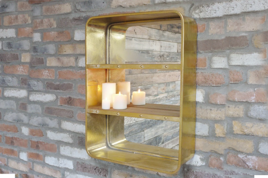 Industrial Style Wall Mounted Shelf Unit