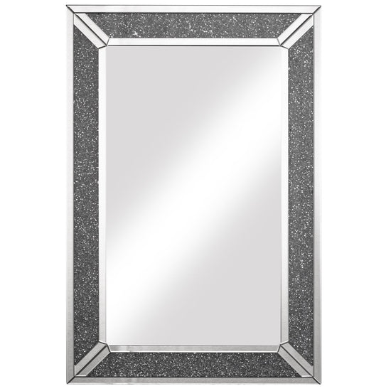 Roselyn Mirror - Silver / Dark Grey-Bedroom Furniture-Jaspers of Hinckley Ltd.