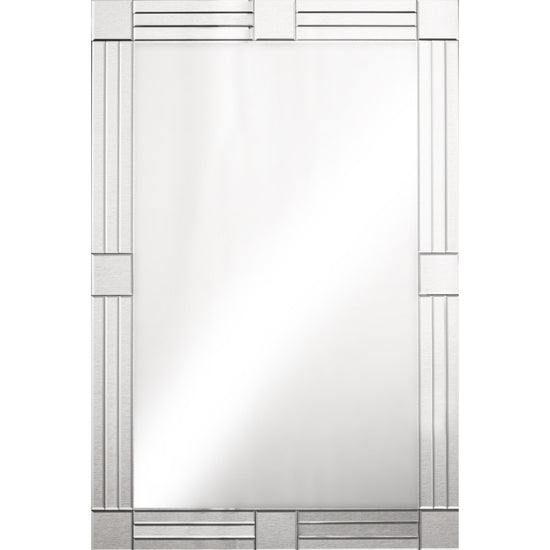 Roselyn Silver Mirror - Squares-Bedroom Furniture-Jaspers of Hinckley Ltd.