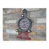 Train Themed Closed Face Clock - Black / White / Red / Gold-Chair-Jaspers of Hinckley Ltd.
