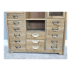 Vintage Style Storage 24 Drawer 2 Door Cabinet - Wooden / Glass-Livingroom Furniture-Jaspers of Hinckley Ltd.