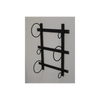 Wall Mounted Wine Bottle Holder - Black-Chair-Jaspers of Hinckley Ltd.