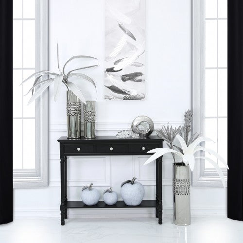 Value Medium Black Delta 3 Drawer Console Table