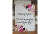What If I Fall Wall Sign - White / Floral-Chair-Jaspers of Hinckley Ltd.