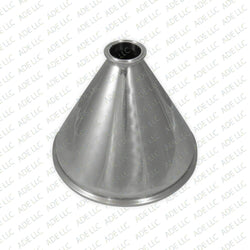 "10"" x 2""  Tri Clamp, Tri Clover, Sanitary, Concentric Reducer, 304 Stainless Steel"