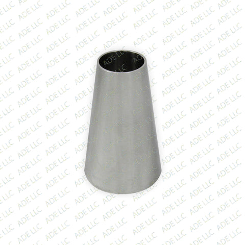 "Weld Concentric 2.5"" x 1.5"" Reducer, Stainless Steel 304"