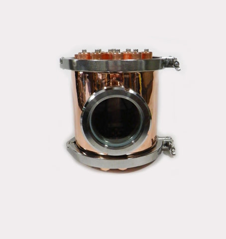 "8"" Copper Column Section with Bubble Plate, Tri Clamps & Gaskets"