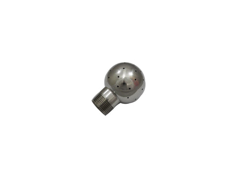 "Fixed CIP Spray Ball w/ 1"" Male NPT and 2.5"" Ball"